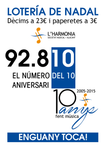 Cartel lotería 2015