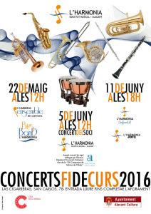 Cartel conciertos fin de curso 2016